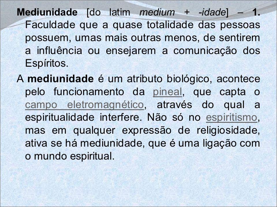 Mediunidade [do latim medium + -idade] – 1